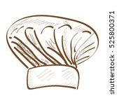 isolated retro hand drawn baker ... | Shutterstock .eps vector #525800371