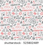 business themed doodle seamless ... | Shutterstock . vector #525802489