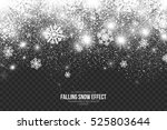 falling snow effect on... | Shutterstock .eps vector #525803644