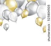 vector festive balloons... | Shutterstock .eps vector #525804505