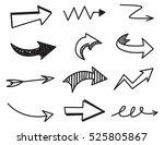 arrow doodle background | Shutterstock . vector #525805867