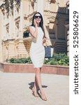 portrait of pretty business... | Shutterstock . vector #525806629