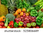 Group Of Fresh Fruits And...