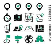 location  position icon set | Shutterstock .eps vector #525806851