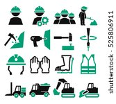 miners icon set | Shutterstock .eps vector #525806911