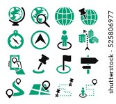 location  place icon set | Shutterstock .eps vector #525806977
