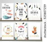 card template collection for...   Shutterstock .eps vector #525807259