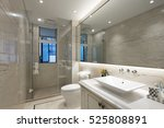 interior of modern bathroom | Shutterstock . vector #525808891