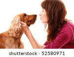 young brown cocker spaniel and... | Shutterstock . vector #52580971