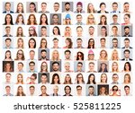 collage of diverse people... | Shutterstock . vector #525811225