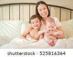 young mixed race chinese and... | Shutterstock . vector #525816364