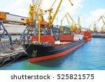 bulk cargo ship under port...   Shutterstock . vector #525821575