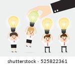 boss choosing businessman or... | Shutterstock .eps vector #525822361
