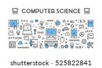 line web concept for computer... | Shutterstock . vector #525822841