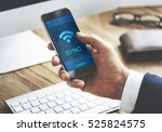 communication connection... | Shutterstock . vector #525824575