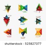 set of triangle geometric... | Shutterstock .eps vector #525827377