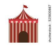 red and white circus tent icon | Shutterstock .eps vector #525830887