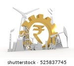 energy and power icons set on... | Shutterstock . vector #525837745