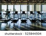 fitness club in luxury hotel... | Shutterstock . vector #525844504