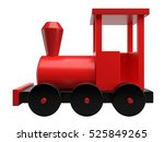 Red Toy Train Isolated On Whit...