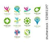health logo  medical logo... | Shutterstock .eps vector #525851197