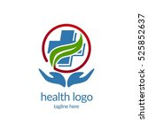 health medical logo design... | Shutterstock .eps vector #525852637