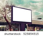 blank adverting billboard | Shutterstock . vector #525854515