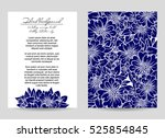 abstract flower background with ... | Shutterstock .eps vector #525854845