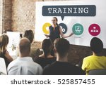 coaching training performance... | Shutterstock . vector #525857455