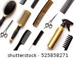 combs and hairdresser tools on... | Shutterstock . vector #525858271