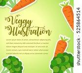 vegetables poster design...   Shutterstock .eps vector #525864514