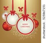 christmas greeting card. vector ... | Shutterstock .eps vector #525867151
