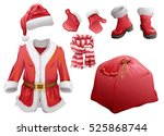 set of christmas accessories... | Shutterstock .eps vector #525868744