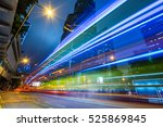 traffic light trails in...   Shutterstock . vector #525869845