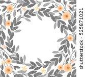 floral frame beautiful vintage...   Shutterstock .eps vector #525871021