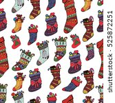 beautiful christmas pattern... | Shutterstock .eps vector #525872251