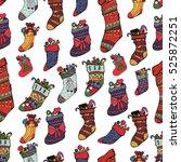 beautiful christmas pattern... | Shutterstock .eps vector #525872251