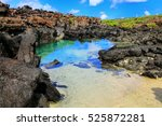small lagoon with clear water... | Shutterstock . vector #525872281