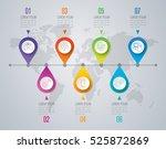 timeline infographic design... | Shutterstock .eps vector #525872869