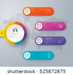 infographic design vector and... | Shutterstock .eps vector #525872875