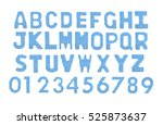 letters and numerals english... | Shutterstock . vector #525873637
