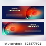 banner speed action fast... | Shutterstock .eps vector #525877921