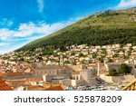 old city dubrovnik in a... | Shutterstock . vector #525878209