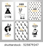 christmas hand drawn printable... | Shutterstock .eps vector #525879247