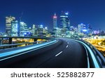 highway overpass motion blur... | Shutterstock . vector #525882877