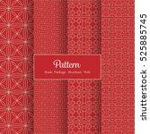 vector pattern set for package  ...   Shutterstock .eps vector #525885745