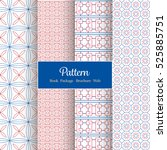 vector pattern set for package  ... | Shutterstock .eps vector #525885751