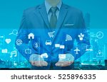 business man showing technology ... | Shutterstock . vector #525896335