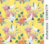 watercolor pattern of... | Shutterstock . vector #525896779