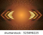 tech abstract squares mosaic... | Shutterstock .eps vector #525898225